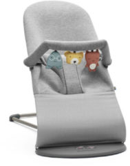 Licht-grijze BABYBJÖRN Bouncer Bliss and Soft Friends Bouncer Toy - Light Grey
