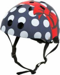 Blauwe Mini Hornit Lids Fietshelm Voor Kinderen - Met Led Achterlicht - Polka Dot (S)