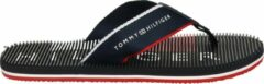 Tommy Hilfiger Message Footbed Beach Sandal teenslippers donkerblauw