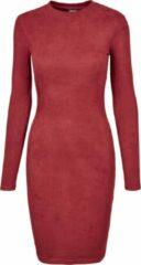 Bordeauxrode Urban classics Jurk - Dress - Rib Dress Casual - Modern - Lente - Zomer - Herfst - Urban - Streetwear - Sexy Dames Jurk Maat M