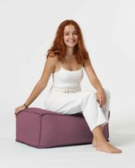 Xoft Living Chilly Linnen Zitzak Pouf - Lilac