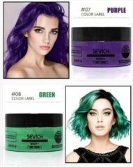 Sevich Professionele en Kwalitatieve Haarverf - Tijdelijke Haarkleur - Haar Wax - Haircoloring Wax - Uitwasbaar - 100% Natuurlijke Ingredienten - Paars