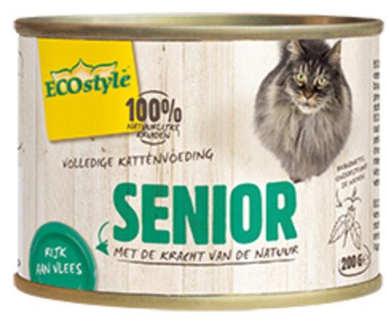 Afbeelding van VITALstyle Kattenvoer Blik Senior 200 gr