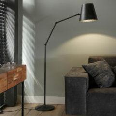 Antraciet-grijze Easy Furn Vloerlamp Atri