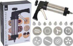 Roestvrijstalen Excellent Houseware Koekjespistool - set 17-delig