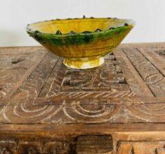 Moroccan Garden Tamegroute kom   schaaltje  Marokkaanse Aardewerk Geel   Diameter 20
