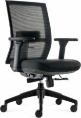 BenS 835-Ergo-4 Zwart Luxe ergonomische bureaustoel met een Donati mechaniek en een verstelbare lende steun Voldoet aan EN1335 en Arbo norm - Zwart