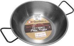 Zilveren Lyonnaise pan hoog met twee grepen, plaatstaal, 36 cm - Garcima
