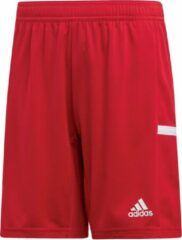 Adidas T19 Short Junior Sportbroek - Maat 116 - Unisex - rood/wit