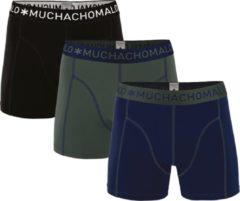 Muchachomalo Basiscollectie Heren Boxershorts - 3 pack - Donkerblauw/Legergroen/Zwart - Maat M
