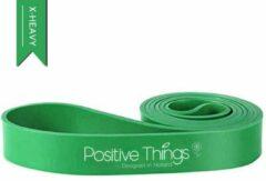 Groene Positive Things Fitness Elastieken - Weerstandsbanden - Powerbands Extra Zwaar - Fitness Elastiek