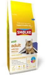 Smolke Smølke Adult Fish & Rice kattenvoer 2 kg OP is OP