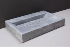 Licht-grijze Wastafel Forzalaqua Bellezza Cloudy Marmer Gezoet 80,5x51,5x9 cm 2 Kraangaten