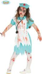 Blauwe Zombie Kostuum | Zombie Ziekenhuis Zuster | Meisje | 7 - 9 jaar | Halloween | Verkleedkleding
