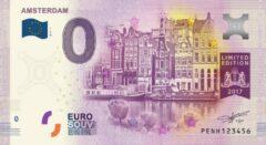 Paarse 0 Euro Biljet Nederland 2017 - Amsterdam
