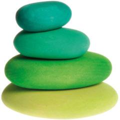 Grimms Holzspielzeug Houten stapelstenen, 4-delige set, Groene tinten