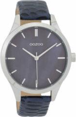 OOZOO Timepieces Horloge Croco Donker Blauw   C9721