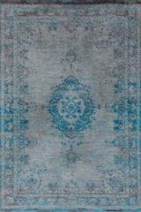 Blauwe Louis de Poortere Vintage Fading Medaillion Vloerkleed 8255 170 x 240 cm - Grey Turquoise