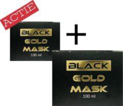 Zwarte Black Gold Mask 2x Black Mask GOLD - Peel off masker - Blackhead masker - Gezichts masker voor verzorging en reiniging