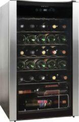 Zilveren Temptech MW95SBS vrijstaande wijnkoelkast - inhoud 34 flessen