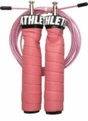 ATHLETIX® Premium Springtouw met Kogellagers - met Draagtas & Extra Kabel - Speedrope - 3m - Roze