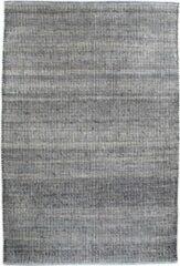 Hioshop Orio vloerkleed handgeweven 200x300 cm, laagpolig grijs, licht blauw.