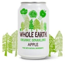 Whole Earth Sparkling apple drink 330 Milliliter