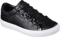 Zwarte Skechers Side Street - Core-Set Sneakers Dames - Black - Maat 39