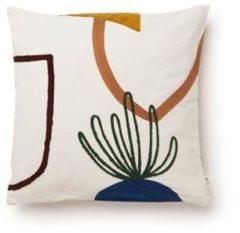Gebroken-witte Ferm Living Mirage Cushion Island sierkussen 50 x 50 cm