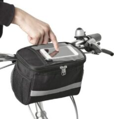 Zwarte Masha Ruime fietstas XL voor telefoon inclusief koelvak