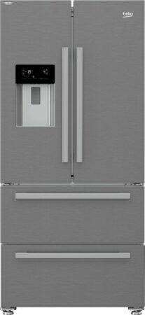 Afbeelding van Beko GNE60530DXN amerikaanse koelkast Vrijstaand Zilver, Roestvrijstaal 530 l A++