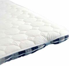Witte 2-Sleep Molton katoen gewatteerd 90/210cm