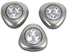 Zilveren Perel Zelfklevende Ledlampen - 3 St.