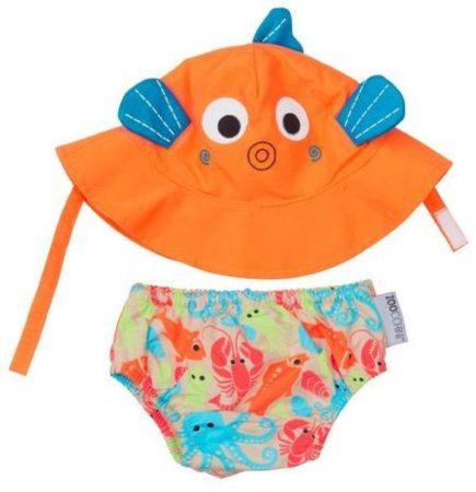 Afbeelding van Oranje Zoocchini Sushi the tropical fish zwemluier + zonnehoedje maat M
