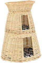 Bruine VidaXL 3-delige Kattenmandset met kussens 47x34x60cm natuurlijk wilgen