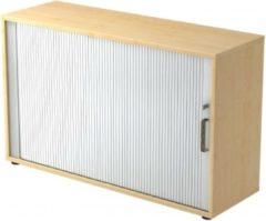 Hjh OFFICE PRO Roldeurkast - Esdoorn/Zilver - 120 x 40 x 74,8 cm - Beta 1732S