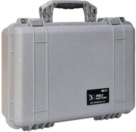 Afbeelding van Peli Case - Camerakoffer - 1500 - Zilver excl. plukschuim 42,50 x 28,40 x 15,50 cm (BxDxH)