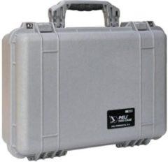 Peli Case - Camerakoffer - 1500 - Zilver excl. plukschuim 42,50 x 28,40 x 15,50 cm (BxDxH)