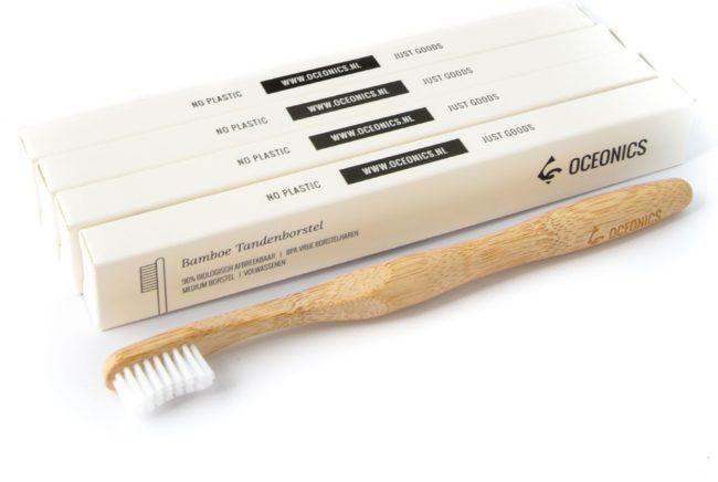 Afbeelding van Oceonics Bamboe tandenborstel 4-Pack | Zero Waste