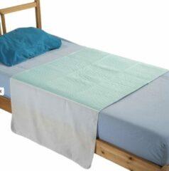 Groene Merkloos / Sans marque Wasbare matrasbeschermer met instopstroken 85x90cm bedbeschermer - incontinentie onderlegger