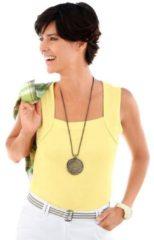 Groene Shirt-top met gepaspeleerde hals