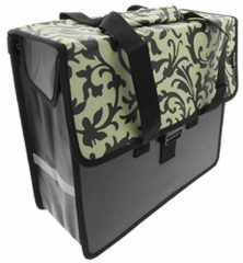 Zwarte Beck Shopper Decoration Black/White enkele fietstas 18 liter