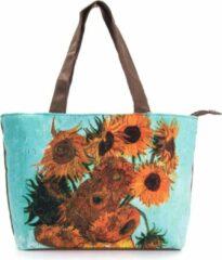Robin Ruth Shopper Tas Small 38x25cm Van Gogh - Vaas met 12 Zonnebloemen