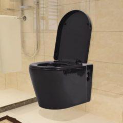 Nero VidaXL WC Sospeso in Ceramica Nera