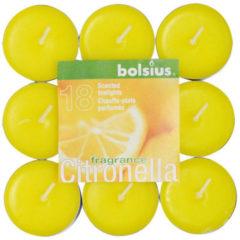 Bolsius theelicht+geur 4u pk/18 citronel