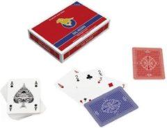 Dal Negro speelkaarten San Siro 8,8 cm rood/blauw 110-delig