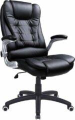 Zwarte Songmics Bureaustoel Met Hoge Rugleuning - Ergonomische Bureaustoel Met Verdikt Kussen - OBG51B