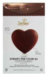 Transparante Chocolade mal hart 9 x 10 cm - Decora