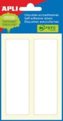 Apli witte etiketten ft 31 x 100 mm (b x h), 12 stuks, 2 per blad (2682)