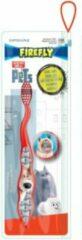 Rode Firefly Pets tandenborstel inclusief borstel beschermkap